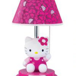 Light up your little girl's life with a Hello Kitty table lamp