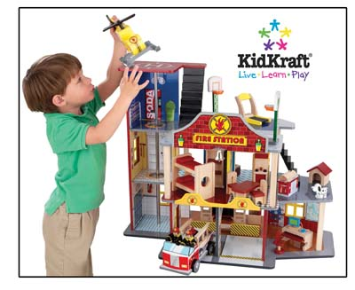 Your little guy will love this fire house!