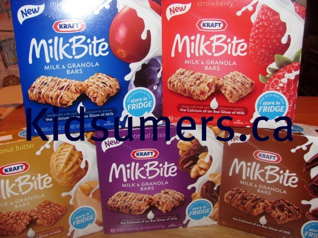 Kraft MilkBite Milk and Granola Bars Review