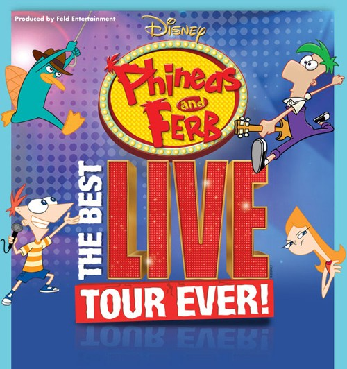 Win 4 tickets to see Phineas and Ferb Live!