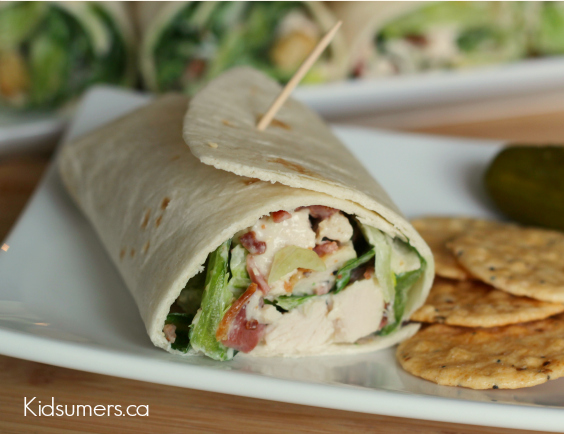 Lunch Recipe: Turkey Caesar Wraps