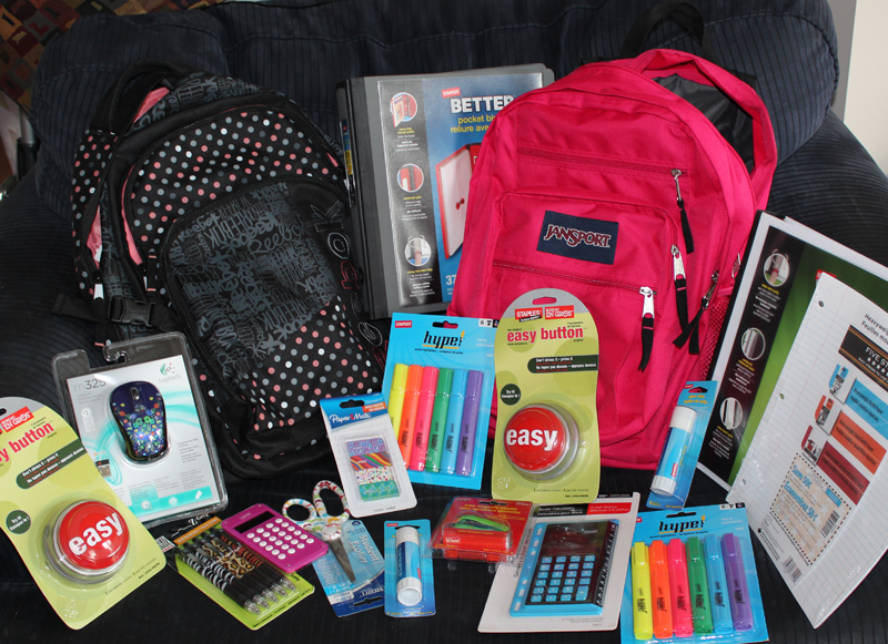 Stock the office and the backpacks at Staples