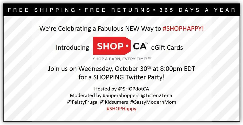 Join the #SHOPHappy Twitter Party Oct. 30 8pm EDT
