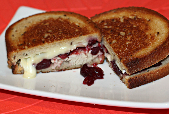 turkey-brie cranberry sandwich