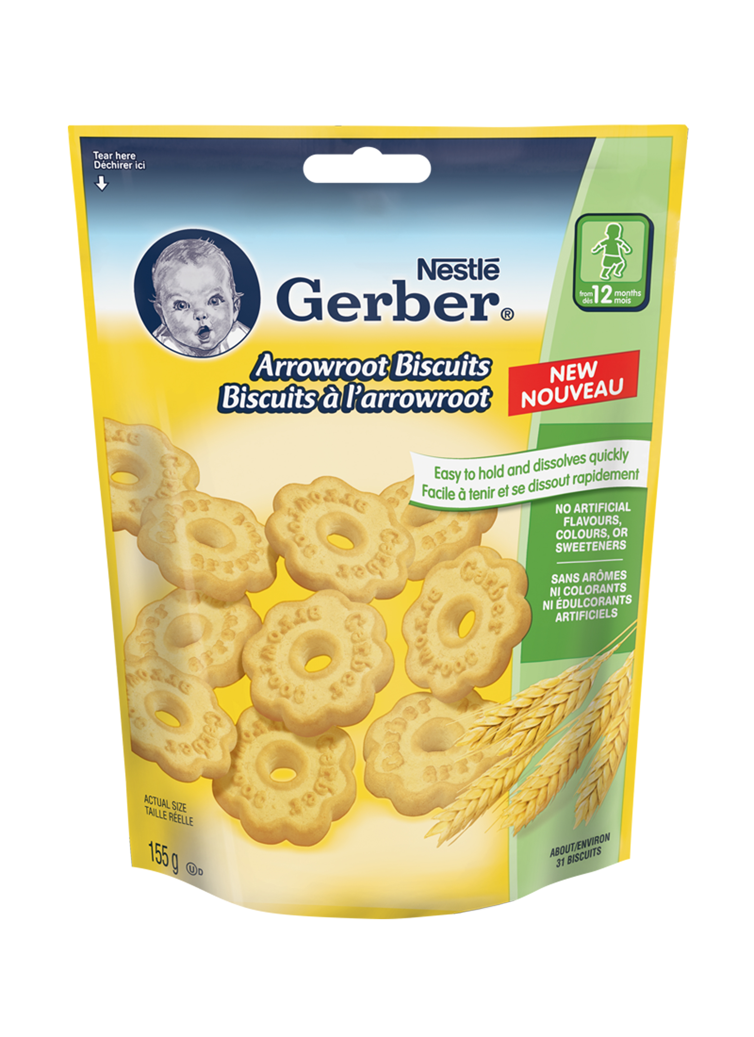 Gerber Arrowroot Biscuits: A great first cookie.