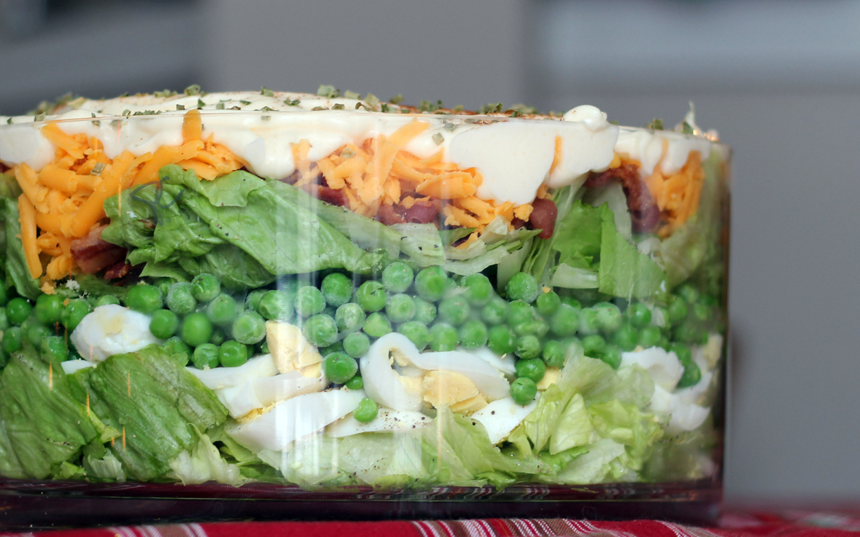 Layered Cobb Salad Recipe — Dishmaps