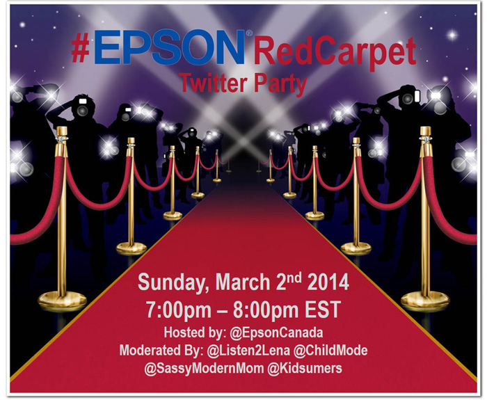 Join the #EPSONRedCarpet Twitter Party March 2nd 7pm EST