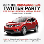 Join the #NissanRogue Twitter party Feb. 13th 9pm EST
