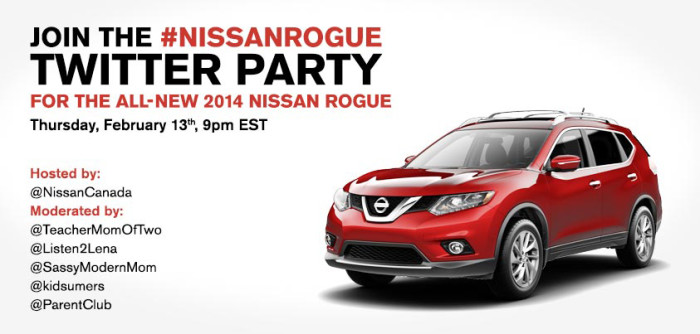 Nissan Rogue Twitter Party Graphic
