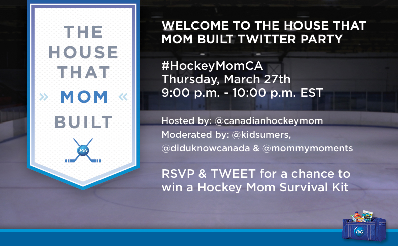 Join the #HockeyMomCA Twitter Party March 27th 9pm ET