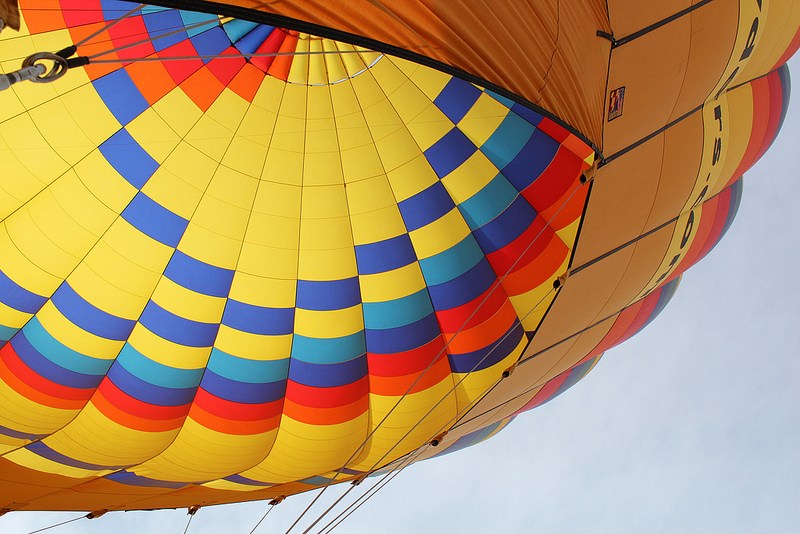 Floating Over Albuquerque in a Hot Air Balloon