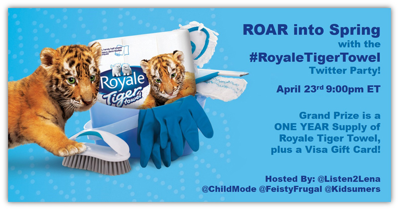 Join the #RoyaleTigerTowel Twitter Party April 23rd 9pm ET