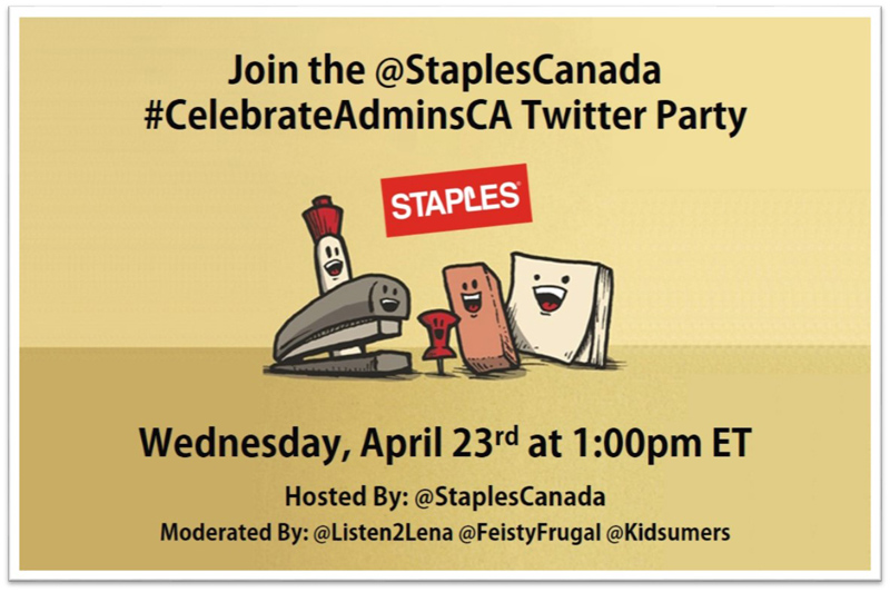 Join the #CelebrateAdminsCA Twitter Party April 23rd 1pm ET