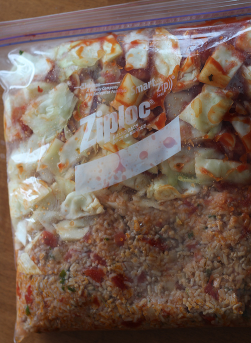 Cabbage Roll Casserole freezer bag