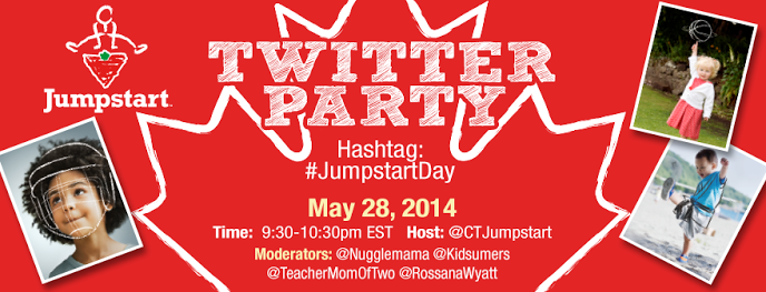 Join the #JumpstartDay Twitter Party May 28th 9:30pm EST