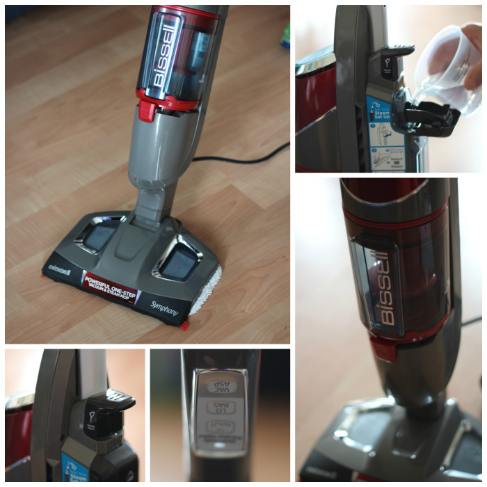 steam vacuum collage