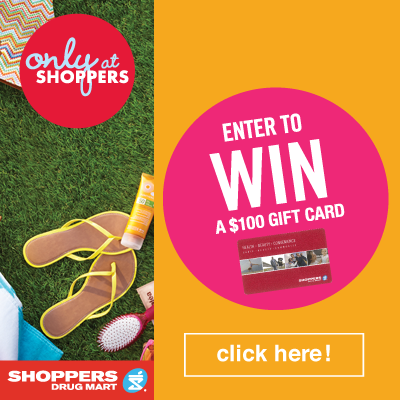 Win 1 of 2 $100 Shoppers Gift Cards #onlyatshoppers {Canada}