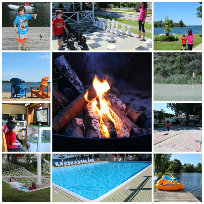 fern resort collage