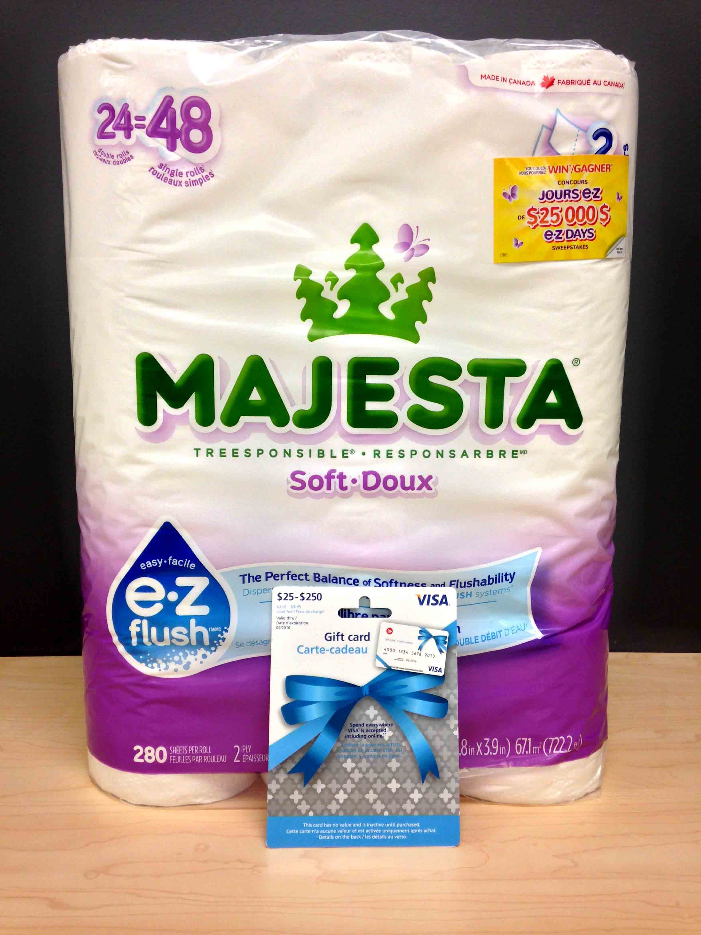 Win a Visa Card & Majesta Products ARV $40 {Canada}