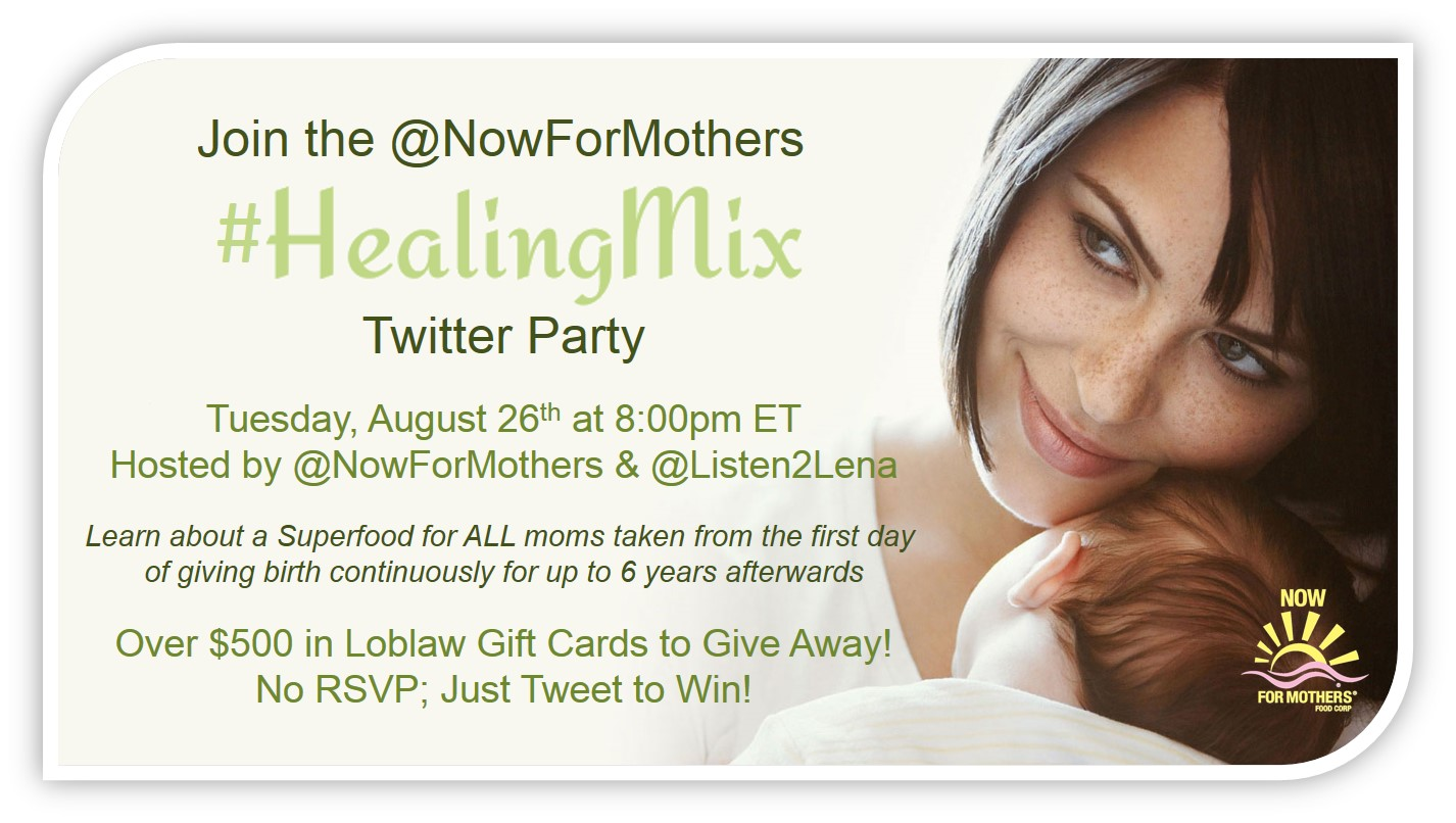 Join the #HealingMix Twitter Party Tues., Aug. 26th 8pm EST
