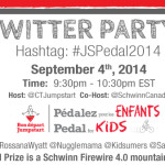 Join us for the #JSPedal2014 Twitter Party Sept. 4, 2014