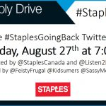 Join the #StaplesGoingBack Twitter Party Wed., Aug. 27th 7pm EST