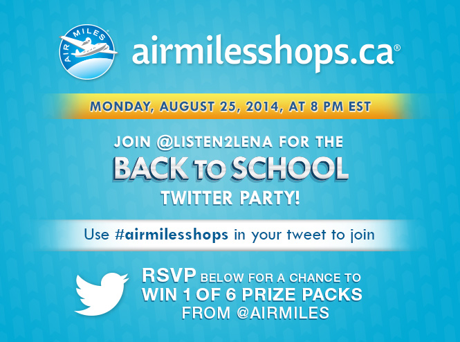 Join me for the Back to School #airmilesshops Twitter Party!