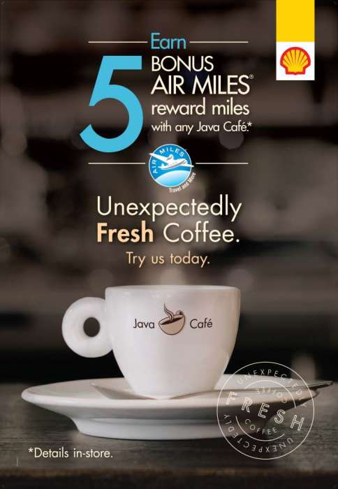 BTL java air miles offer 1