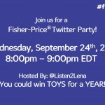 Join the Fisher Price #fpsmartstages Twitter Party Sept 24 8pm EDT