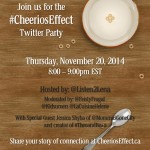 Join the #CheeriosEffect Twitter Party Nov. 20th 8pm EST