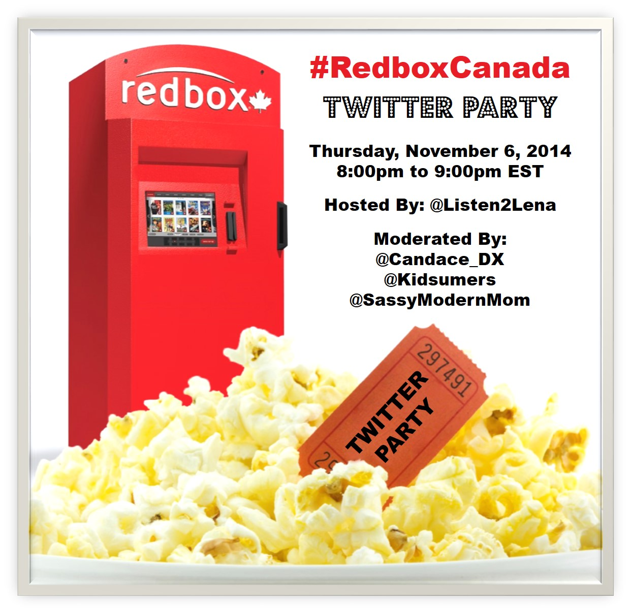 Join the #RedboxCanada Twitter Party Nov. 6th 8pm EST