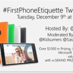 Join the #FirstPhoneEtiquette Twitter Party Dec. 9th at Noon