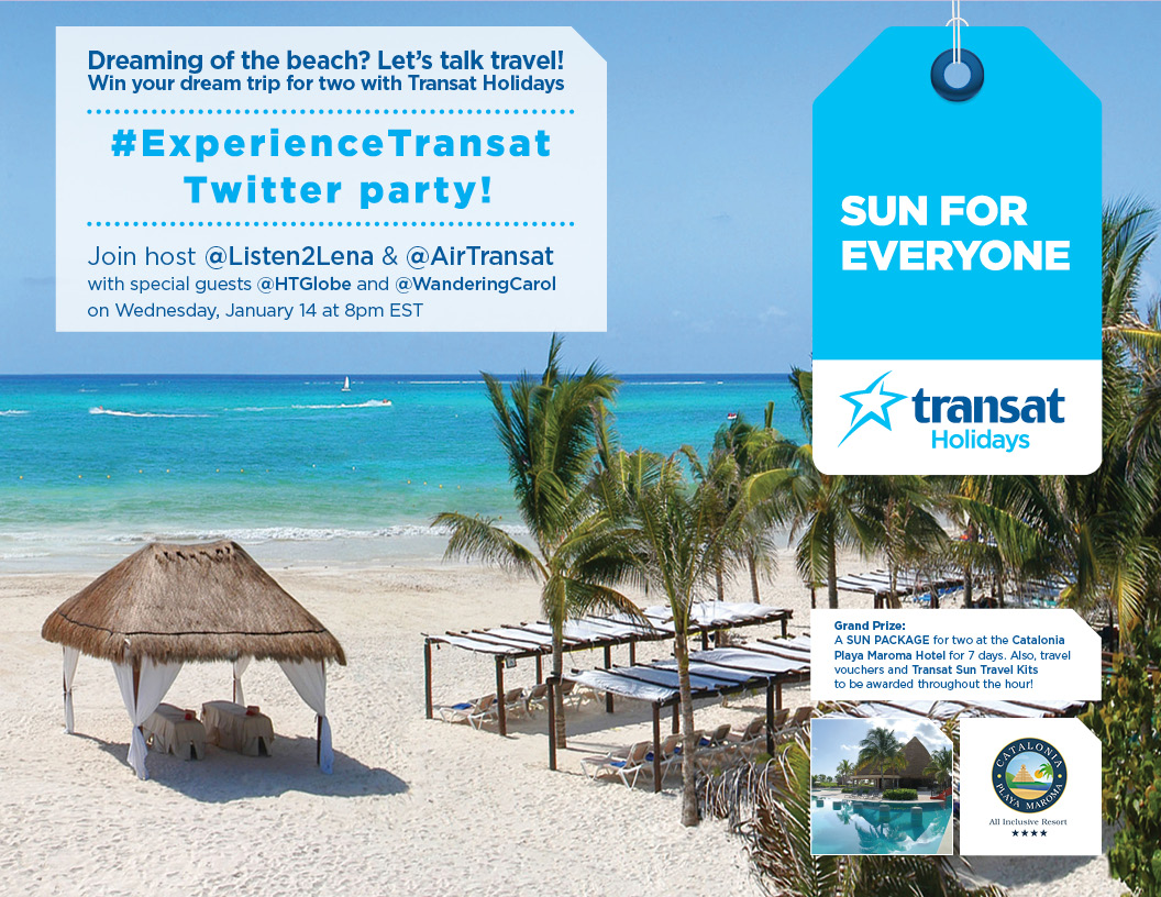 Warm up at the #ExperienceTransat Twitter Party!