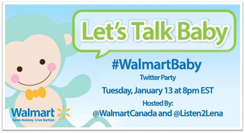 Join us for another #WalmartBaby Twitter Party!