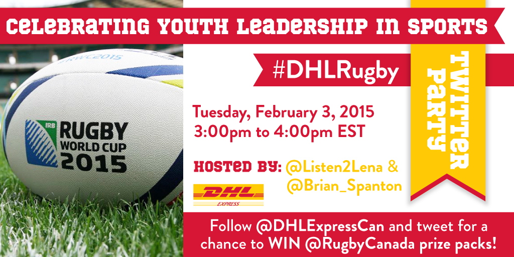 Join the #DHLRugby Twitter Party Feb. 3rd at 3pm EST