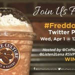 Join the #Freddoccino Twitter Party Apr. 1st at Noon EDT
