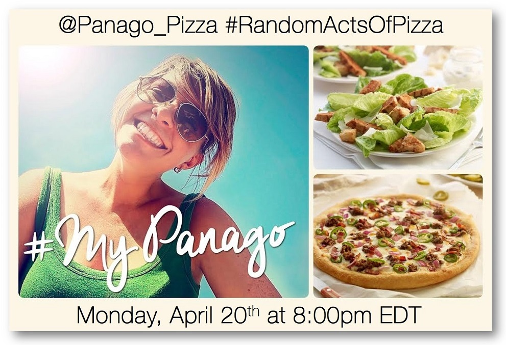 Join the #RandomActsOfPizza Twitter Party Mon, April 20th at 8pm EDT