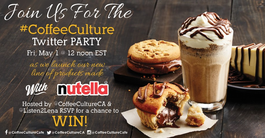 Join the #CoffeeCulture Twitter Party on May 1st at Noon EDT