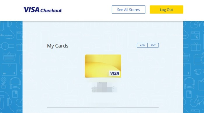 Visa Checkout cards