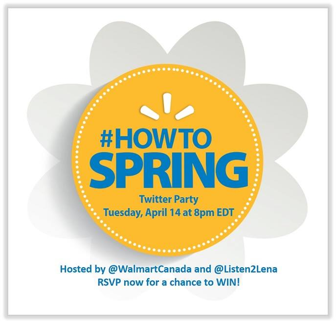 Join us for the #HowToSpring Walmart Twitter Party!