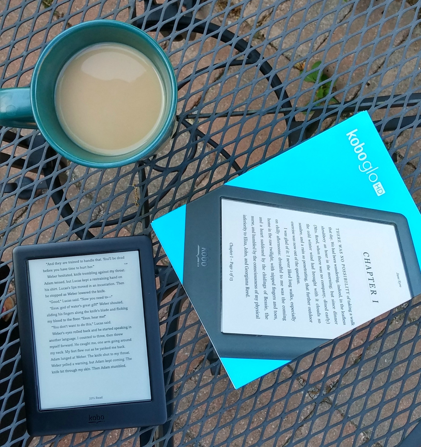 Read Day and Night with the Kobo Glo HD