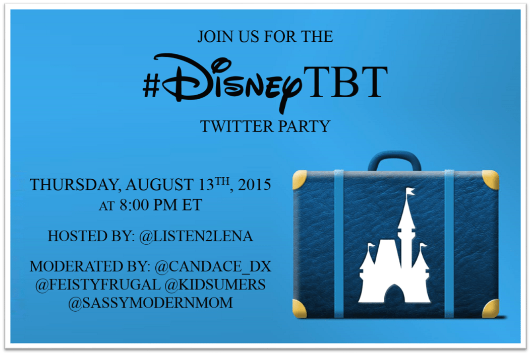 Share your Disney Memories at the #DisneyTBT Twitter Party