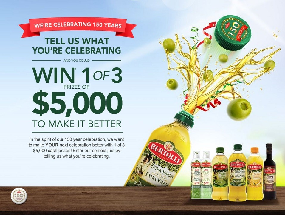 Bertolli Sweeps Graphic