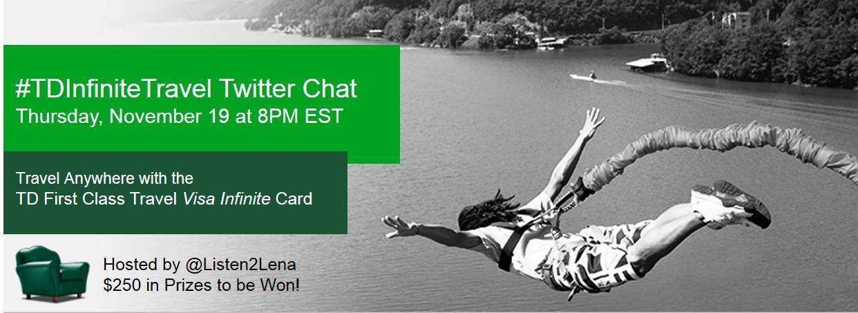 Join the TD Aeroplan Travel Twitter Chat Nov. 19th at 8pm EST