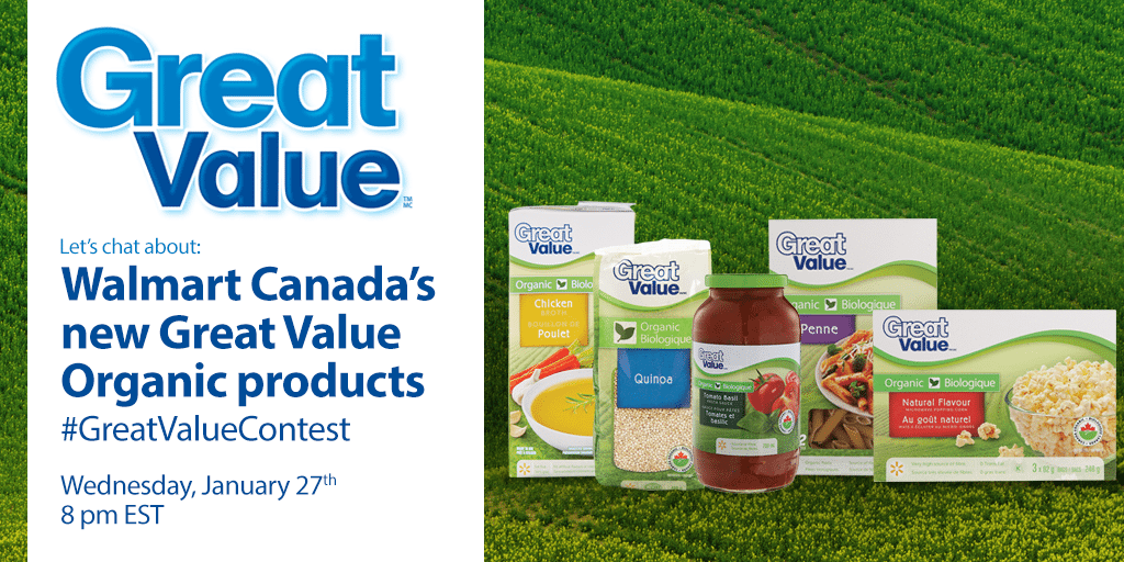 Join the Walmart #GreatValueContest Twitter Party!