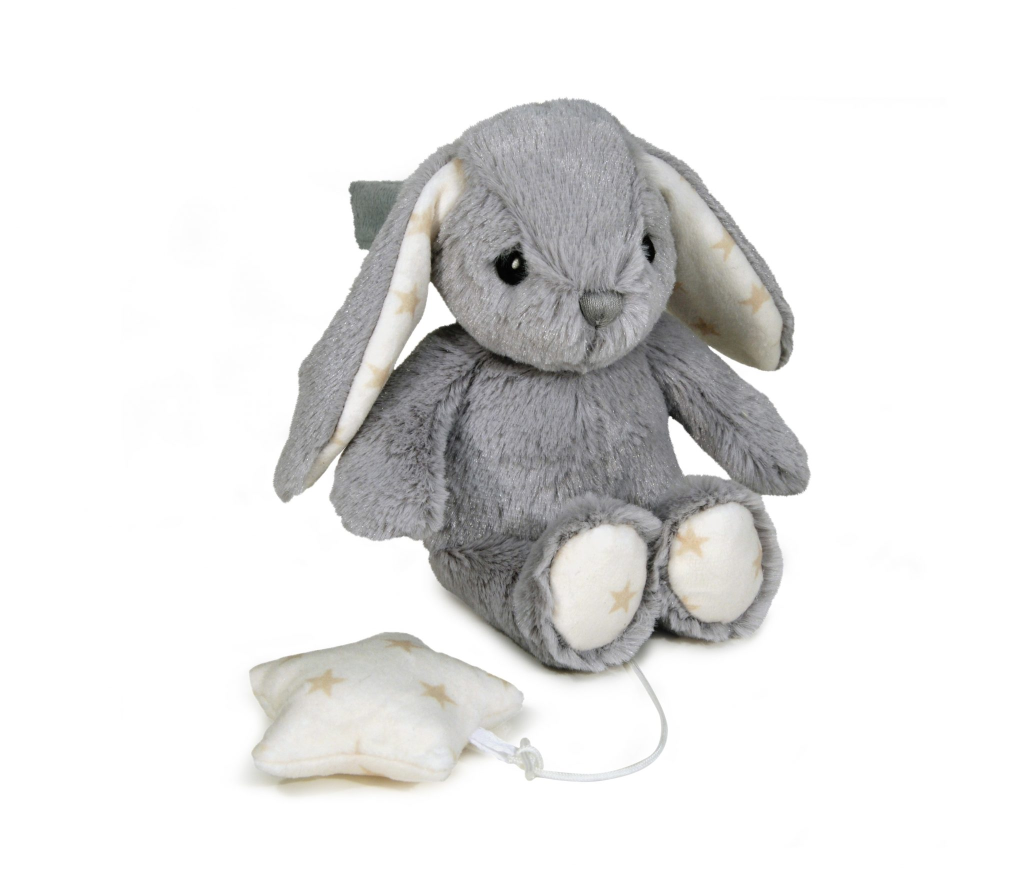 Hugginz Musical Plushies Grey Bunny