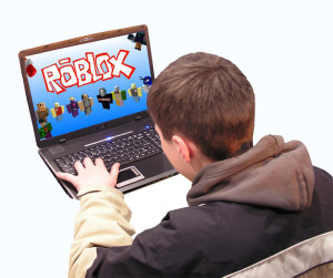 boy playing roblox