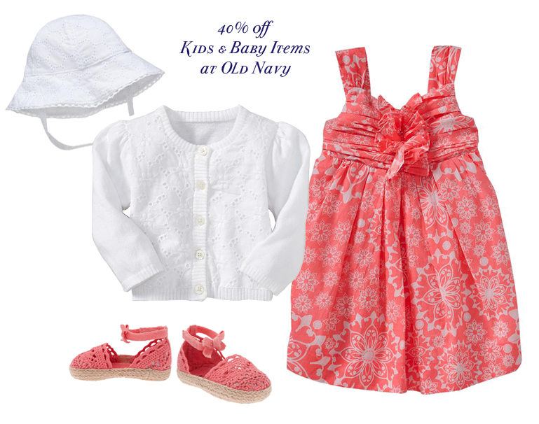 Save on all Kids and Baby Clothes at Old Navy