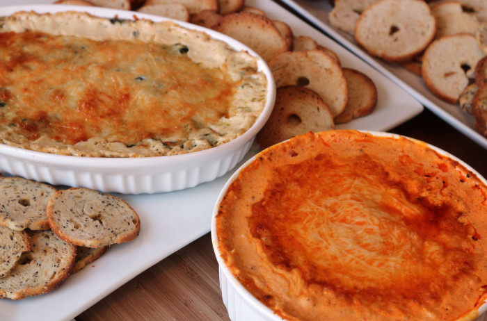 Dips made with Kraft Shredded Cheese with a Touch of Philadelphia
