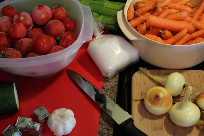 Vegetables are clean and ready to prepare.